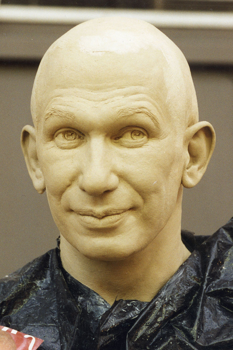 Sculpture of Jean-Paul Gaultier by Karen Newman