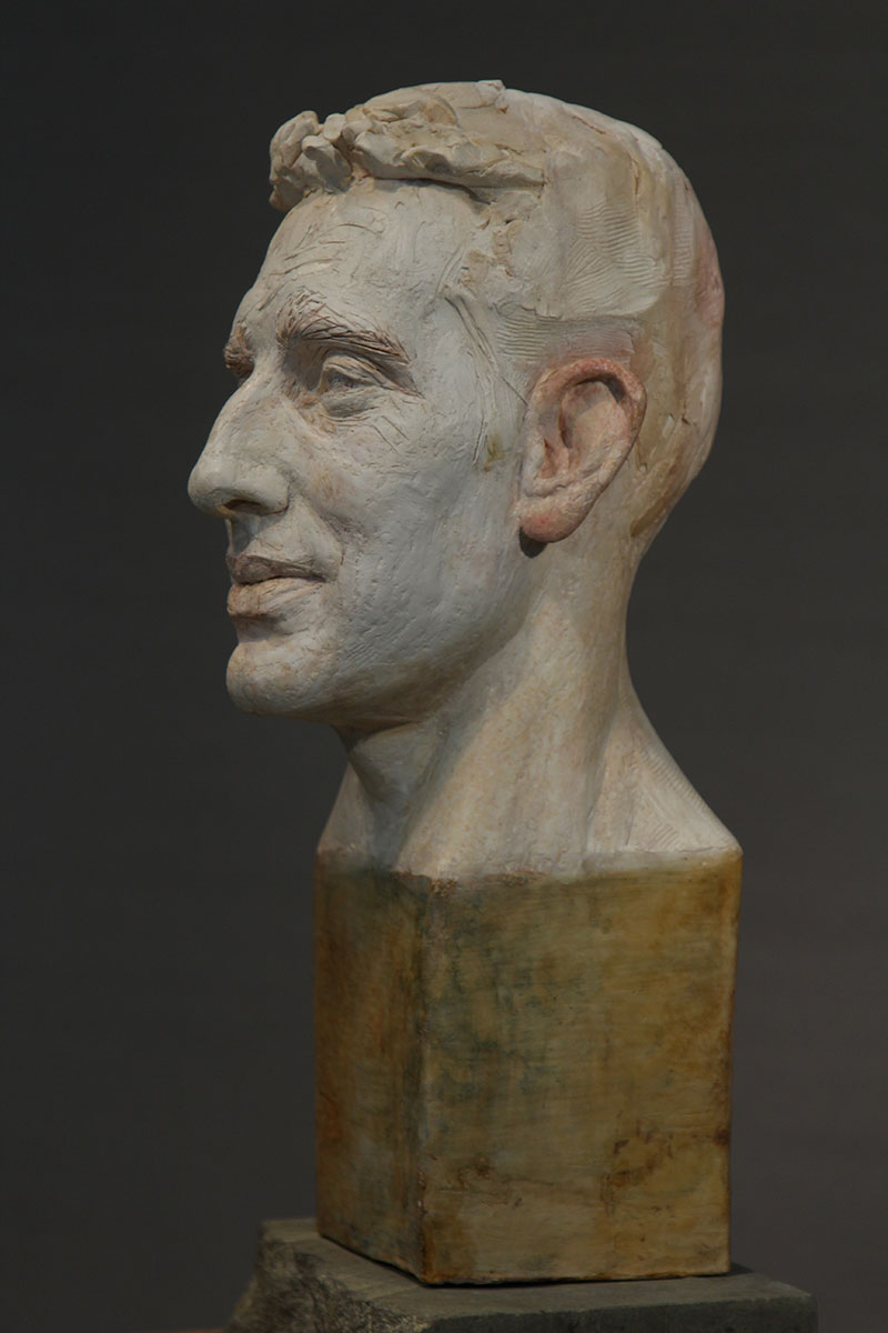 Sculpture of Andrew Jennings by Karen Newman