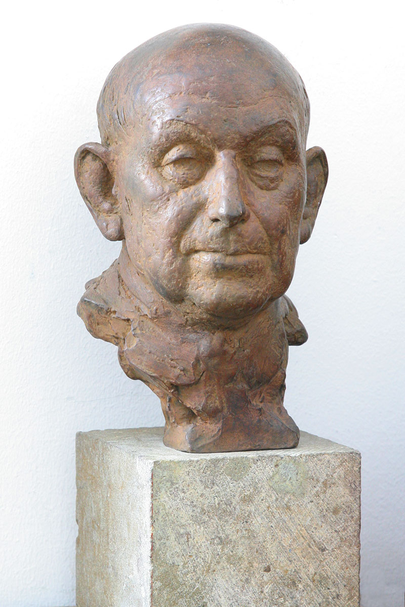 Sculpture of Samuel Geller by Karen Newman