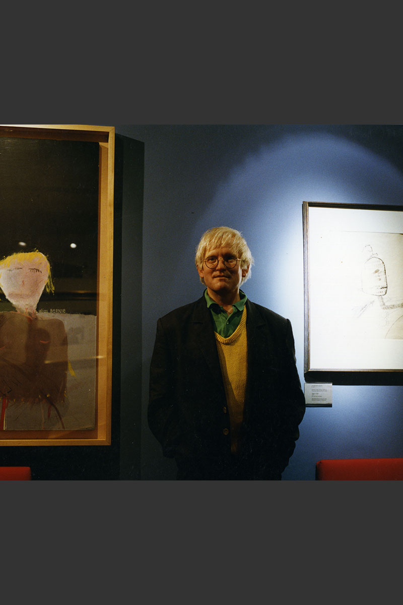 Sculpture of David Hockney by Karen Newman