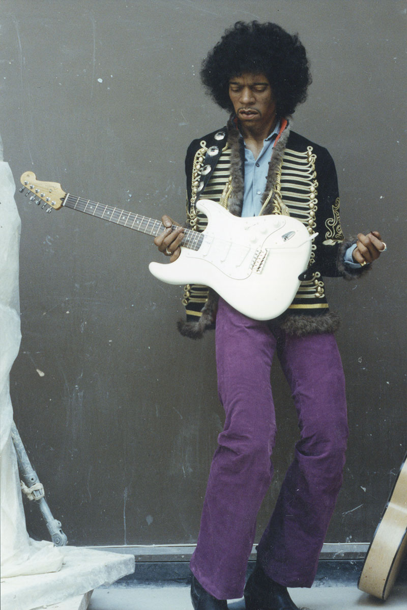 Sculpture of Jimi Hendrix by Karen Newman