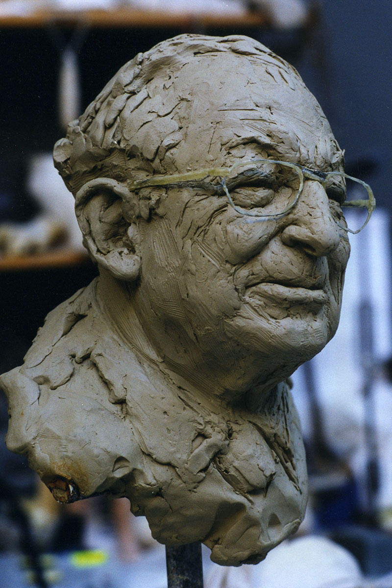Sculpture of Phillip Joseph by Karen Newman