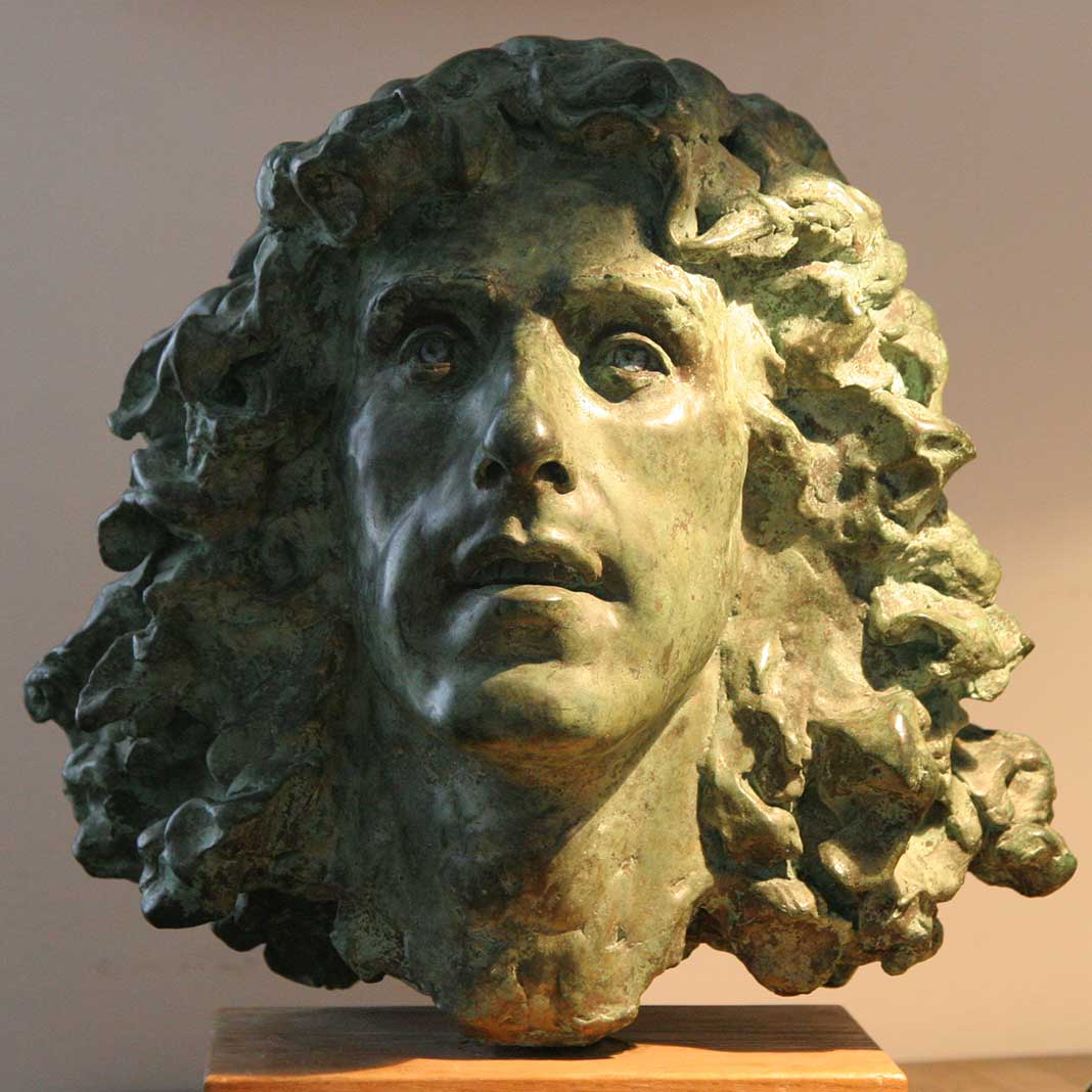 Sculpture of Roger Daltrey of 'The Who' by Karen Newman