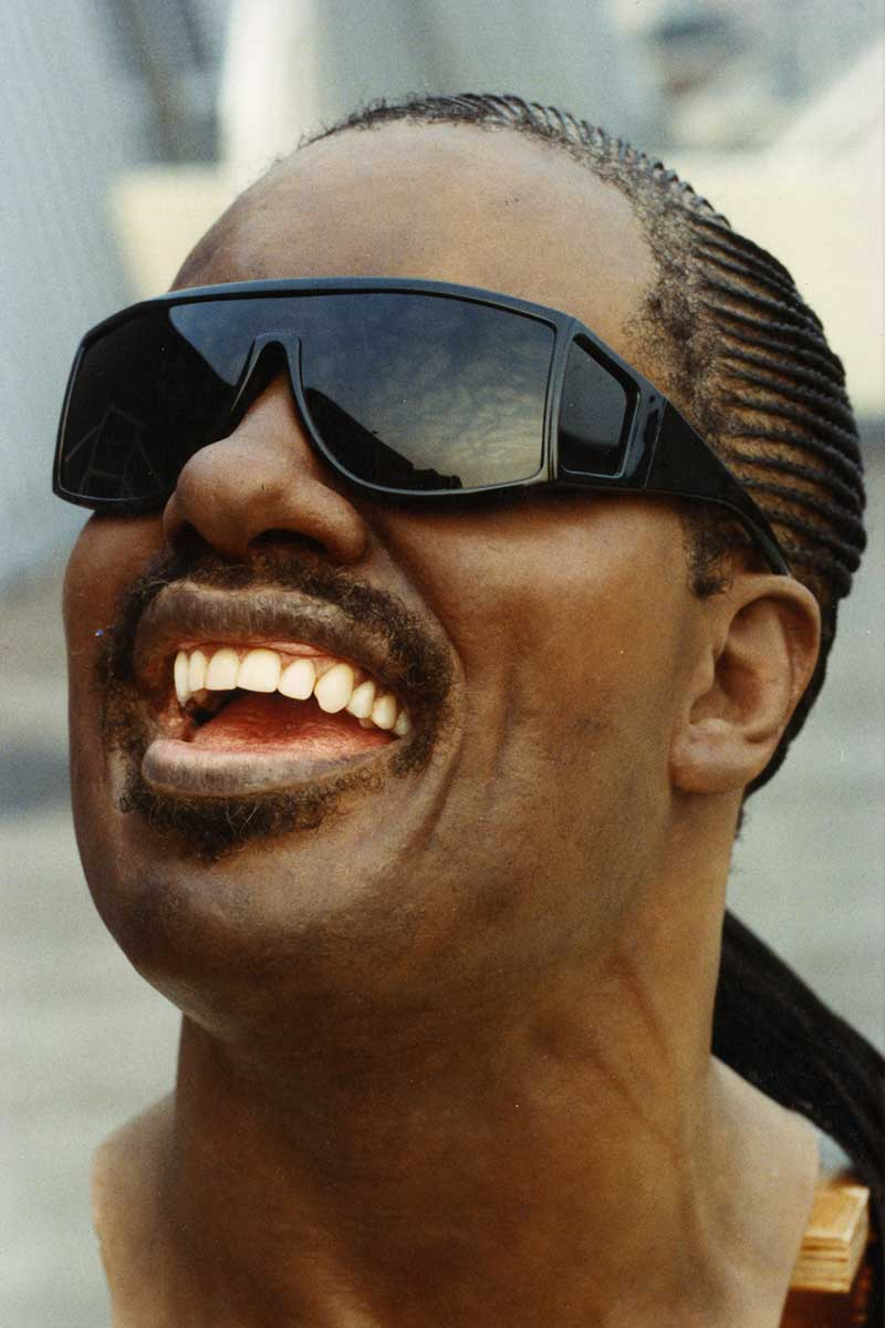 Sculpture of Stevie Wonder by Karen Newman