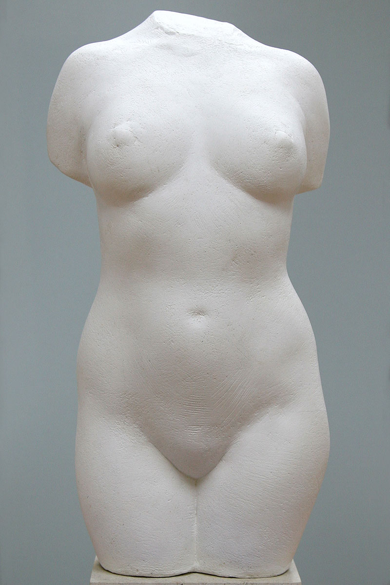 Sculpture of female torso by Karen Newman