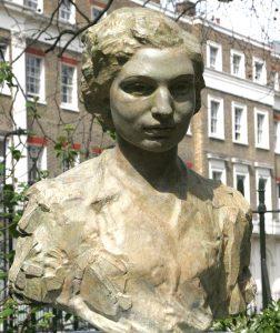 Sculpture of Noor Inayat Khan, GC, Croix de Guerre by Karen Newman